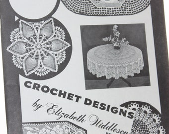 Crochet Designs Volume 14 Elizabeth Hiddleson -- Crochet, Patterns, Gifts -- Lace, Doily, Scarf, Popcorn, Pineapple, Daisy