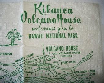 Vintage Napkin • KILAUEA VOLCANO HOUSE welcomes you to Hawaii National Park