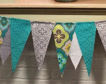 Fabric layered bunting