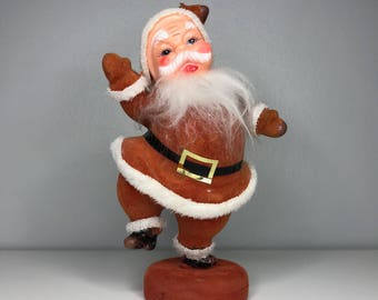 vintage flocked Santa
