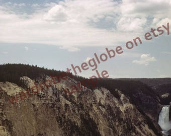 1940 Photo Grand Canyon. Lower Falls. Artist Point. Yellowstone Park. DIGITAL DOWNLOAD 2Print. American Travel Photography. Lodge RV Decor