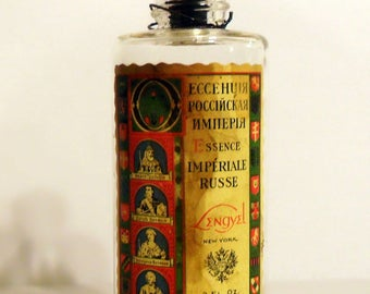 Vintage 1930s Essence Imperial Russe by Lengyel 3 oz Eau de Cologne Splash EMPTY PERFUME Bottle