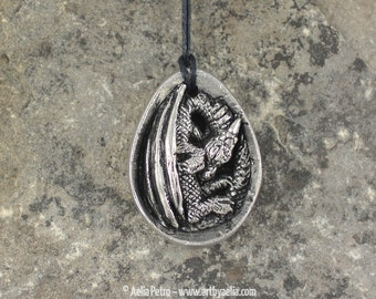 Pewter Dragon Egg Necklace - IN STOCK and Ready to Ship