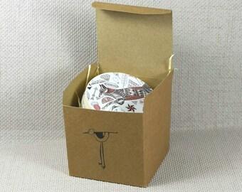 Geometric Fox Coasters, Housewarming Gift, Home Decor Ideas, Geometric Gifts, Coasters, Fox Gifts, Coaster Gift Set, Fox Coasters