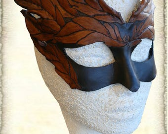 Handcrafted Leather Mask, made to order