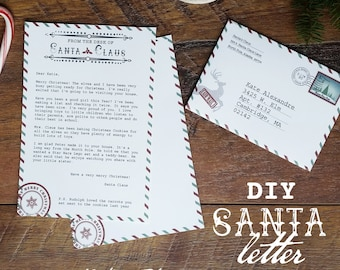 Santa letter, santa claus letter, santa stationary, add your own text, letter from santa, diy santa letter, north pole letter, santa claus