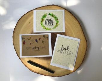 Figgy Pudding card set