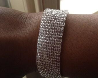 Clear Bead Loom Bracelet