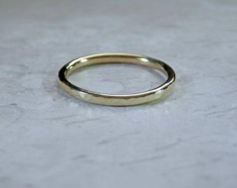18K Gold Wedding Band Stacking Gold Ring