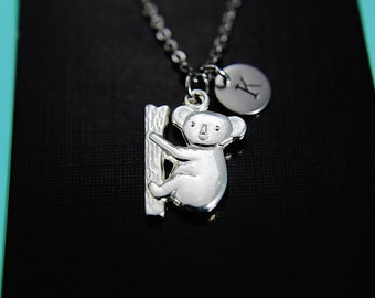 Koala Necklace, Koala Bear Charm, Koala Charm, Animal Charm, Personalized Gift, Best Friend Gift, Coworker Gift