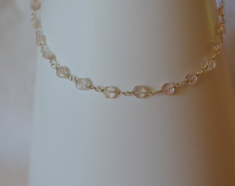 Rose Quartz and Sterling Necklace, Faceted Natural Gemstone Hand Wrapped in Sterling Silver Breast Cancer Awareness Stone