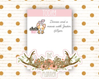Cute Dog Date Night Tracking Functional Planner Stickers for Erin Condren, Plum Paper, Recollections, and Happy Planner Planners (008)
