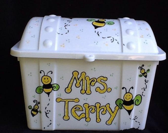Reward box, bumble bee box, treasure chest, school reward box, teacher reward box, kids toy box, toy chest, small toy box, under the sea,