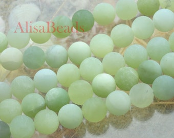 Natural New Jade,matte round,beads,12mm,15 inches
