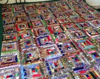 "Patchwork plaid pavloposad scarves ""kaleidoscope N1"