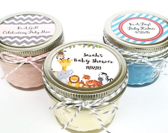 50 Baby Shower Favor Candles | Mason Jar Favors | Rustic Favors | Shower  Favors | Custom Baby Shower Favor | Baby Shower Favors | Candles