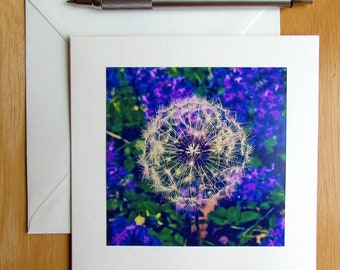 Dandelion Note Card, Photo Note Card, Make a Wish Card, Flower Card, Blank Cards, Stationery, Handmade Cards, Cards with Envelopes, Notecard