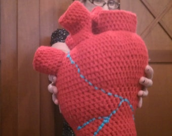 Heart Pillow Crochet, Anatomical