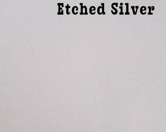 Etched - Vinyl - Adhesvie - Sticker - Decal - Monogram - Frosted Vinyl - Etched Vinyl - Adhesive Vinyl - Sheets - Sheets - Silver - Gold