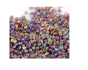 Seed beads multicolored light 20 gr