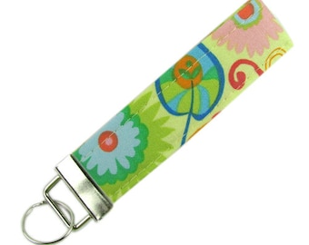Personalized Key Chain / Key Fob Colorful Design With Optional Initials