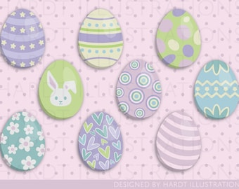 Easter Eggs Clipart, Easter Eggs, Easter Clipart, Easter Images, Easter Bunny, Easter Basket, Scrapbooking, Easter Decor, Easter Decorations