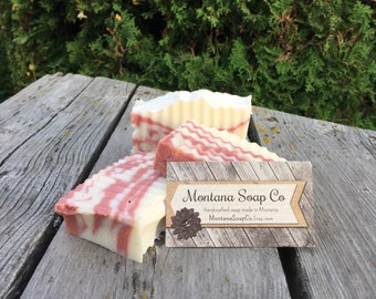 Cranberry Fig Shea Butter Cold Process Soap Made from Scratch