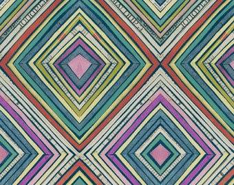Dreamer by Carrie Bloomston for Windham Fabrics - Full or Half Yard Modern Diamond with Newsprint
