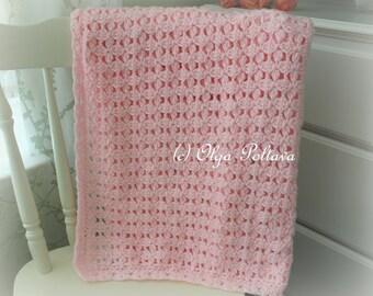 Pink Clusters Baby Blanket Crochet Pattern, Baby Afghan Pattern, Easy Crochet Pattern