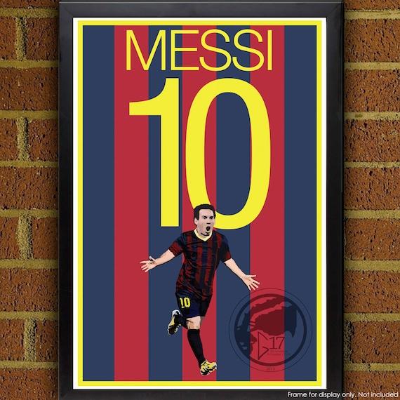 lionel messi 10 poster barcelona fc argentina soccer. Black Bedroom Furniture Sets. Home Design Ideas