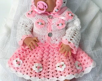 Baby Crochet Patterns, Baby Dress Pattern, Crochet shoes, Crochet headband, baby crochet Dress, Baby shower, Baby Christmas dress, baby gift