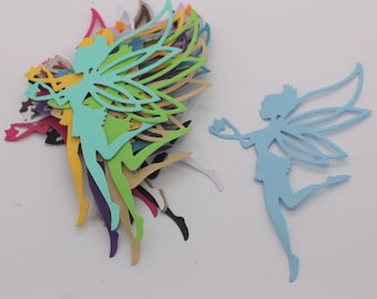 FAIRY cut cardstock paper, supply made multicolored embellishment, scrapbooking, cardmaking, magic
