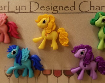 Magnetic wine charms! Ponies!!