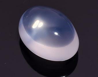 36.35 Ct. Natural Blue Milky Opal Quartz  Oval Cabochon Loose Gemstone 24X18X13 HB-645