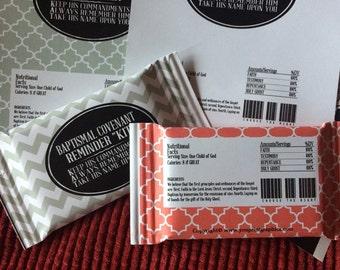 LDS Baptism Kit Kat Wrappers- INSTANT DOWNLOAD -Candy Bar Wrappers – Printable Instant Download