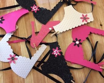 Bachelorette Party Decoration, Lingerie Party Banner, Photo Prop, Bridal Shower
