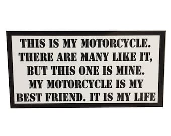This is my Motorcycle Rifleman's Creed Sticker by Seven 13 Productions Full Metal Jacket USMC