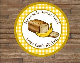 DIY Personalized Bread Labels - Banana Bread Labels - Homemade Bread Tags - Baked By