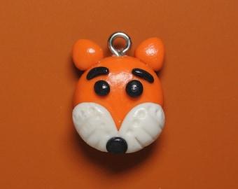 Kawaii Fox || Necklace/ Planner Charm || Jewellery || EPGreen09 || Polymer Clay