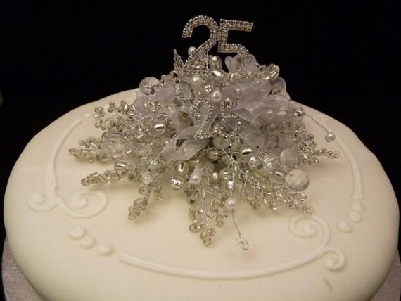 decorazione di torta di nozze d 39 argento nozze