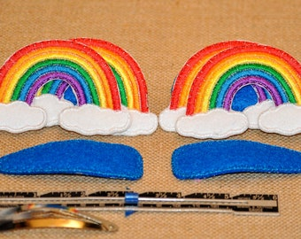 "3"" Snap Hair Clip with Classic Colors Rainbow"
