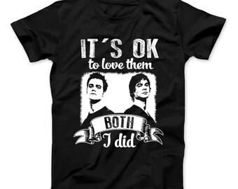 It's Ok To Love Them Both I Did T-Shirt Vampire Diaries Inspired Design Vampire Salvatore Brothers Damon Salvatore Stefan Salvatore