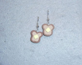 Hot Buttered Toast earrings