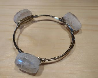 Clear Three Bead Bracelet