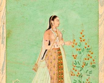 "Unknown : ""Bibi Ferzana"" (Indian, c1675) - Giclee Fine Art Print"