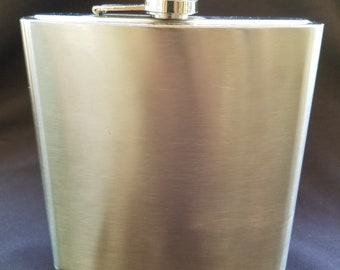 New Jumbo Stainless Steel Flask 40 oz With Screwtop Cap 7.5""