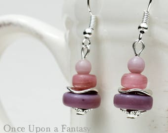 These earrings soft mauve - Once Upon a Fantasy