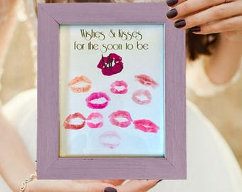 "Bridal Shower Guest Book Alternative ""Wishes & Kisses"""