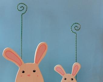 Spring Bunnies wooden photo holder.