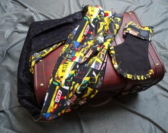 mittens and snood printed yellow taxi New York